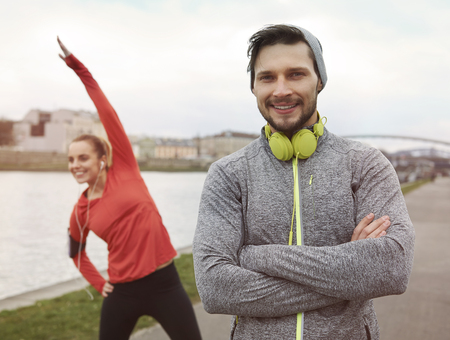 warming up: Warming up before hard workout