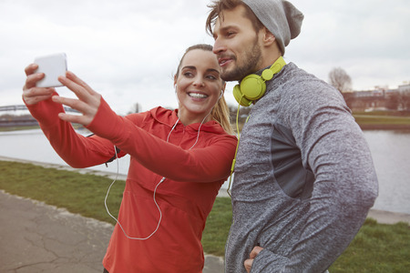 man women: Its motivation for others to see what we train Stock Photo
