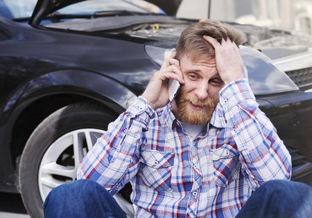 broken: My car broke down can you help me Stock Photo