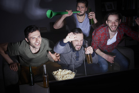 Typical meeting group of men