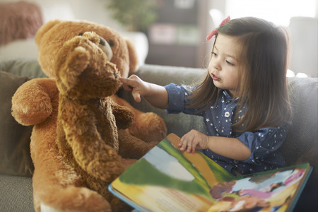 cute teddy bear: My dear, listen my storytelling!