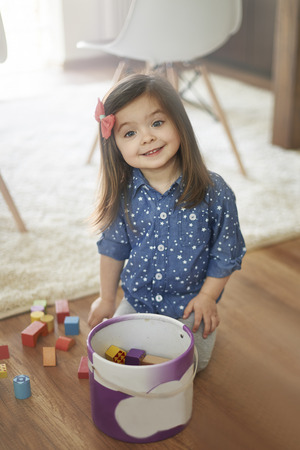 clean: Always cleans up after the playing Stock Photo