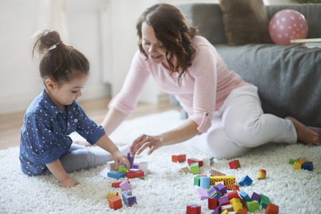 babies children: Playing with mommy