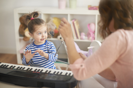 baby playing toy: Develop hobby of your child Stock Photo