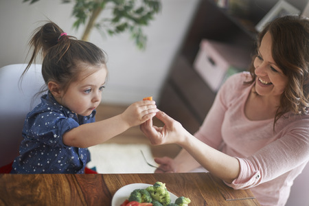 kids eating healthy: Now is time eat a carrot