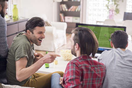 sorry: Sorry, but your team lost, my is a winner Stock Photo