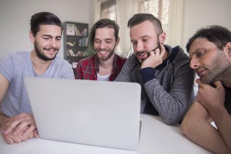 freelancers: Meeting of successful group of freelancers