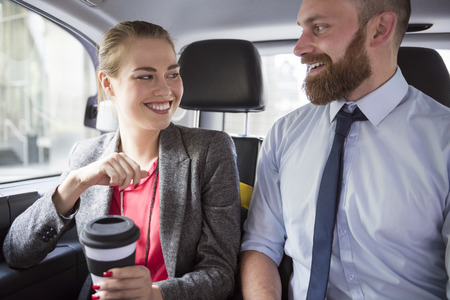 passengers: They always drive to work together in one taxi