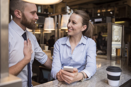 collaborators: Trust between collaborators is very important for business Stock Photo