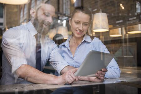 busy beard: Together we can do more Stock Photo