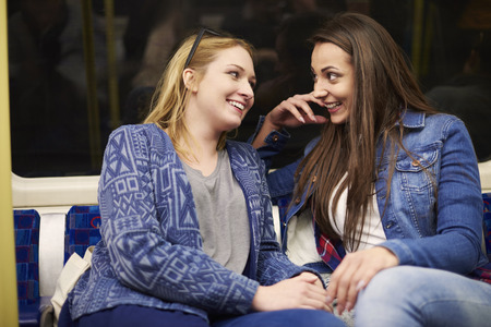 best friend: Time for gossips with the best friend Stock Photo