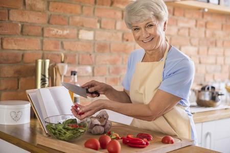 eating salad: Seasonal salad made of best ingredients