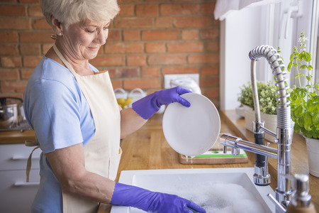 Clean dinnerware is the base Archivio Fotografico