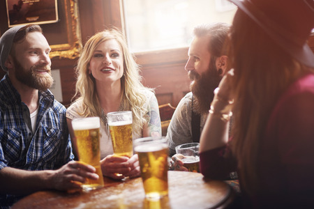 beer in bar: Their favourite bar with the best beer