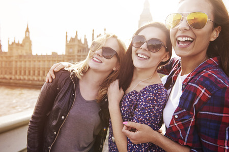 friendships: Wonderful time only in London Stock Photo