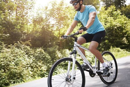 beautiful weather: Beautiful weather to go some cycling Stock Photo