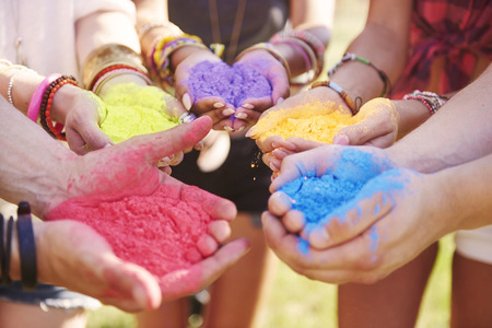 holiday party: Music festival with colour powders