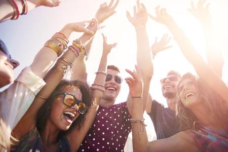 juventud: Espero que esta fiesta nunca termina Foto de archivo
