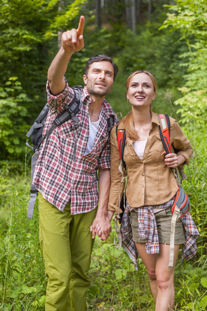 path to romance: Exploring the new beautiful places Stock Photo