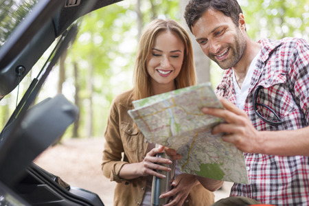 planned: Out trail is planned perfectly Stock Photo