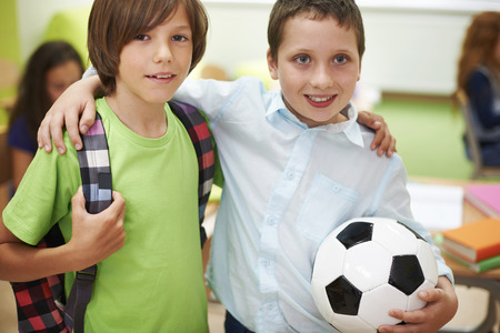 pre adolescent boys: These boys are best friends Stock Photo
