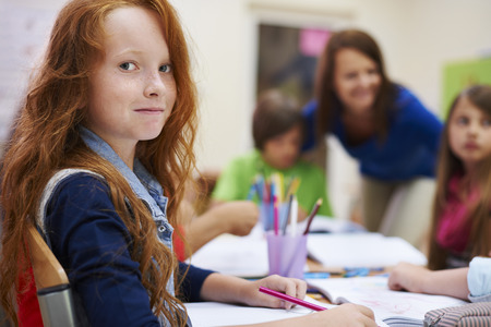 fair skin: There is always good atmosphere during our lessons