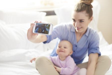 Selfie with my little princess Standard-Bild