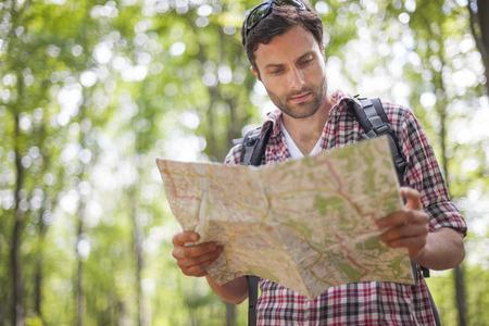 navegacion: ¿Dónde debo ir ahora? Foto de archivo