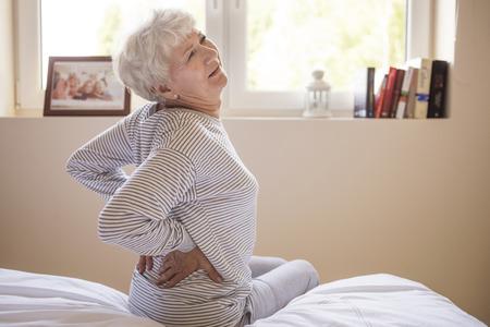 espalda: Enorme dolor de espalda Foto de archivo