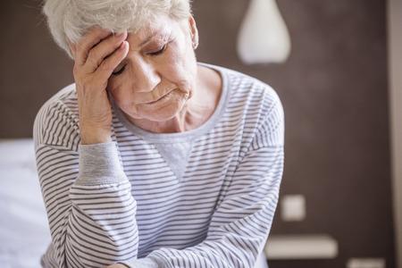 female senior adult: Morning migraine is my biggest problem