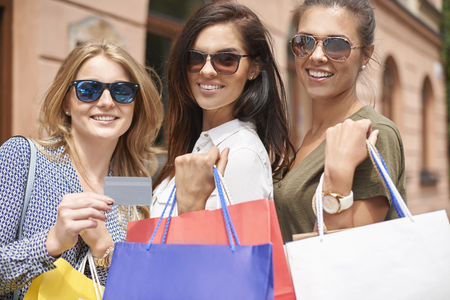 shopping card: Credit card always help in shopping Stock Photo
