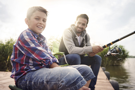 resting rod fishing: We love spending time together