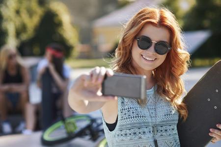 gafas de sol: Y el último autofoto con mi monopatín
