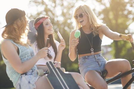 summer sport: Hot summer day with friends