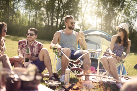 weekend activity: Resting on the camping with my friends