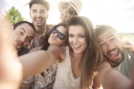 countenance: Selfie during the summer day
