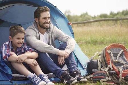 All weekend spent on camping with my son