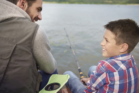 resting rod fishing: My father is the best teacher in the world
