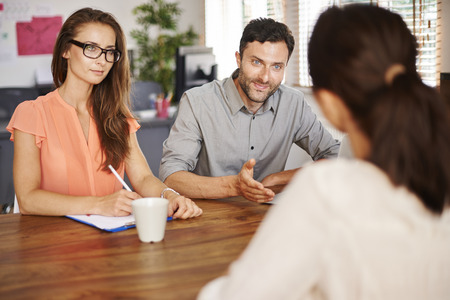 customer focus: New person is about to be hired Stock Photo