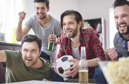 Dit voetbalseizoen is van ons Stockfoto