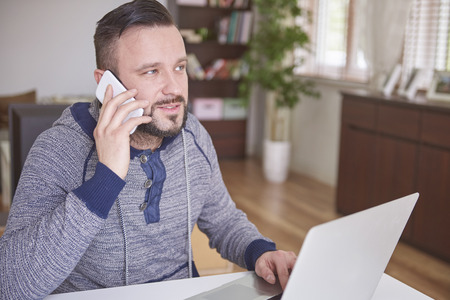 home business: Busy day because I must make so many calls
