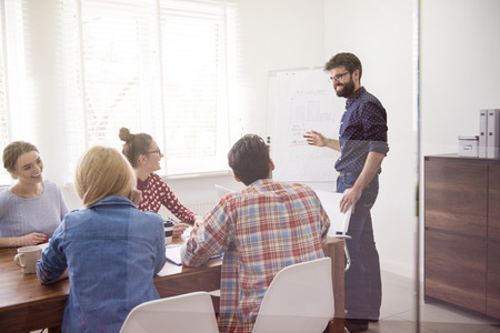 office presentation: Good cooperation is the key to success Stock Photo