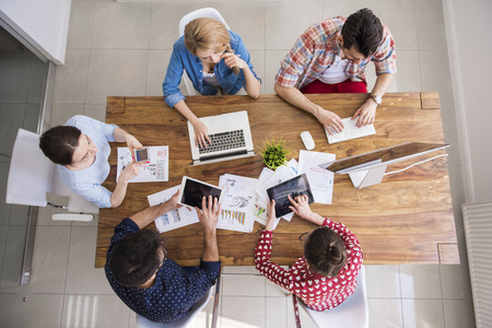 office view: Digital technology surrounds us from everywhere Stock Photo