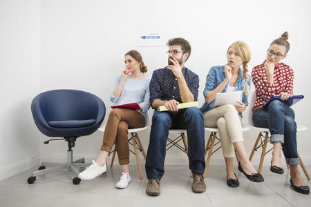 Interview est toujours une situation stresful Banque d'images - 44322040
