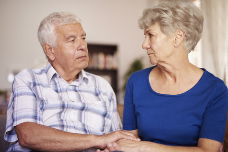 grief: Tranquil scene of senior marriage