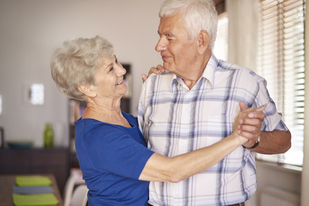 old people: Can you remember when we were younger? Stock Photo
