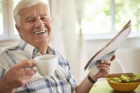 relaxation: Morning coffee and newspaper is a great relaxation