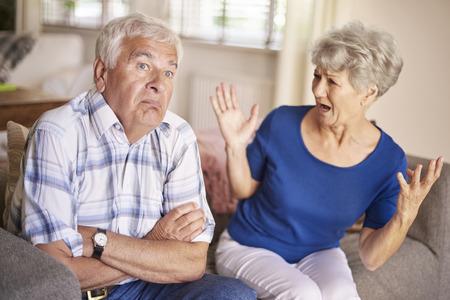 turn away: Argument of senior couple is no joke