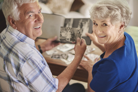 grandpa and grandma: Great memories are kept in the album