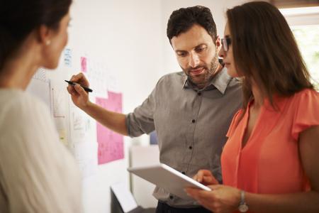 Brainstorming in Zusammenarbeit mit dem Team